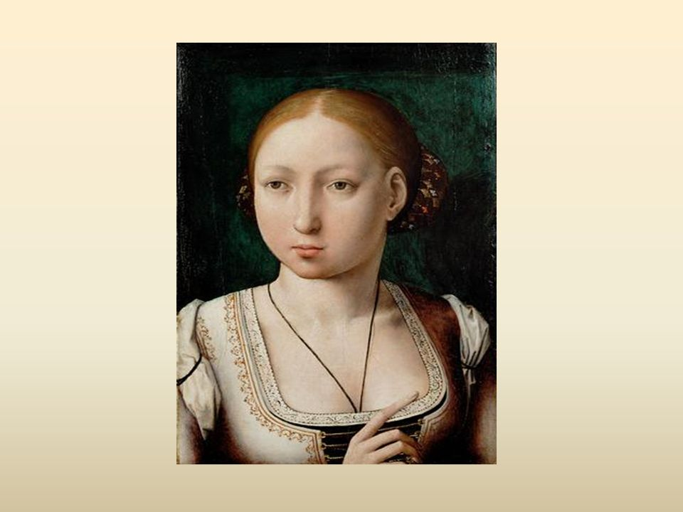 Análisis Fecha:1496-1500 Tamaño : 36,4 x 25,5 cm Soporte: Tabla Técnica: óleo Perspectiva: usa un fondo oscuro para resaltar su tez clara.