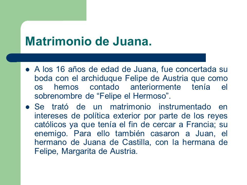 Matrimonio de Juana.
