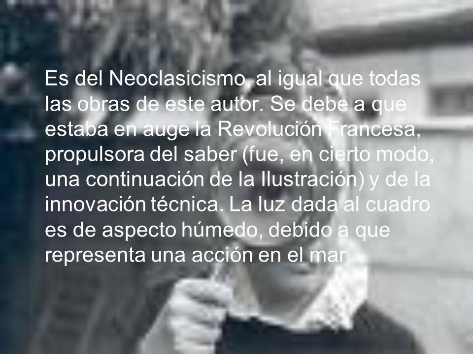 Es del Neoclasicismo, al igual que todas las obras de este autor. Se debe a que estaba en auge la Revolución Francesa, propulsora del saber (fue, en c