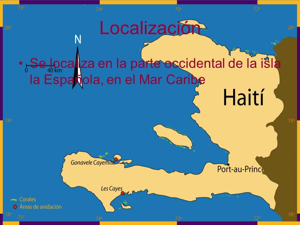 Localización Se localiza en la parte occidental de la isla la Española, en el Mar Caribe
