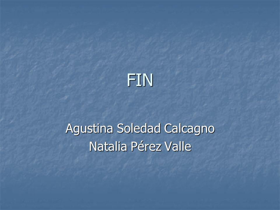 FIN Agustina Soledad Calcagno Natalia Pérez Valle