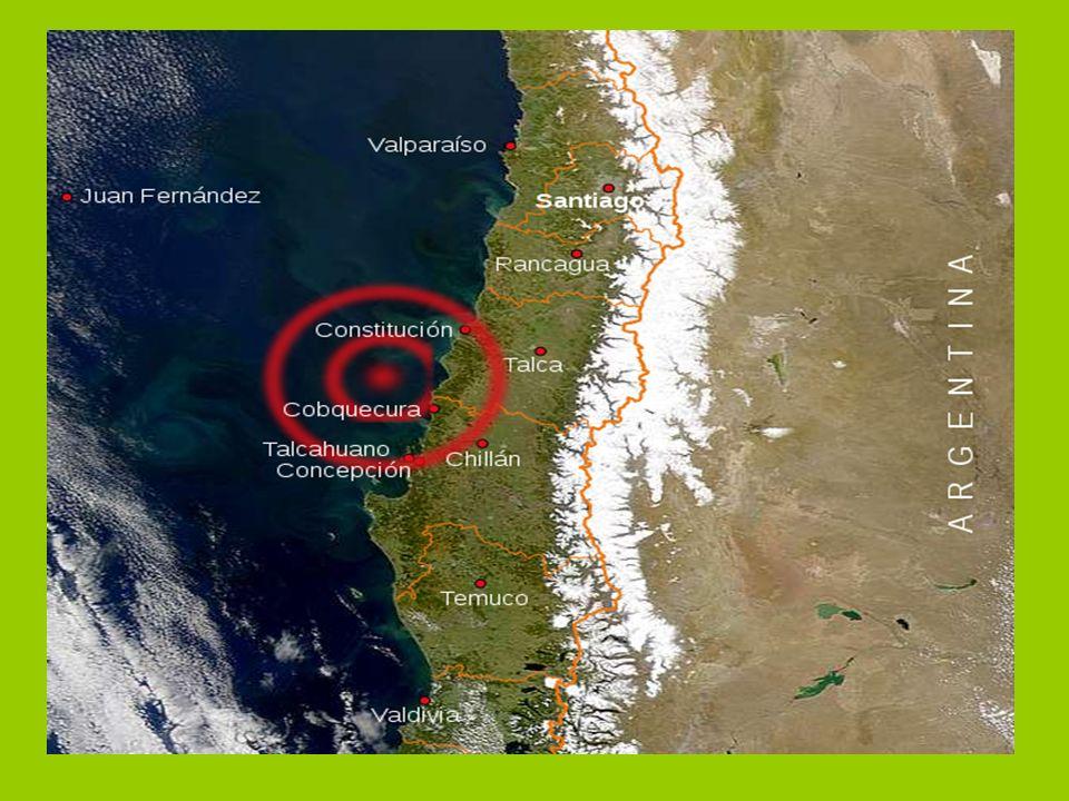 Descripción: El terremoto de Chile de 2010 fue un fuerte sismo ocurrido el sábado 27 de febrero, que alcanzó una magnitud de 8,8 MW.