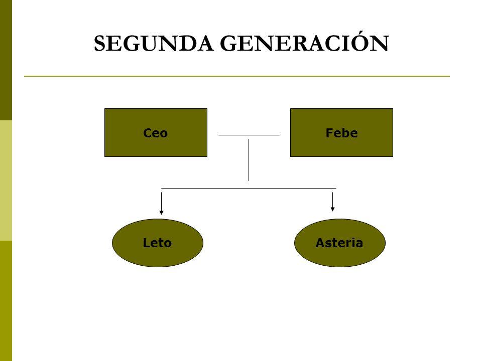 SEGUNDA GENERACIÓN CeoFebe LetoAsteria