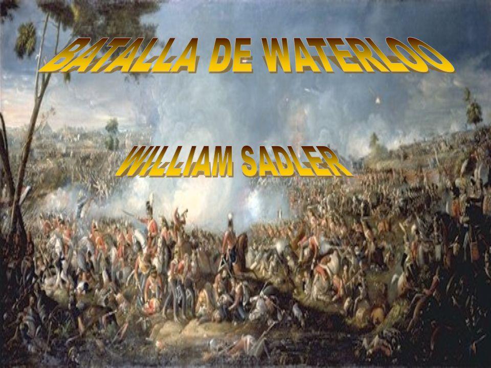 Batalla de Waterloo: Combate librado entre el ejército francés comandado por el emperador Napoleón Bonaparte frente a las tropas británicas, holandesas y alemanas dirigidas por el Duque de Wellington y el ejército prusiano del Mariscal de Campo Gebhard Leberecht von Blücher, cerca de la ciudad de Waterloo (Bélgica), el 18 de junio de 1815.