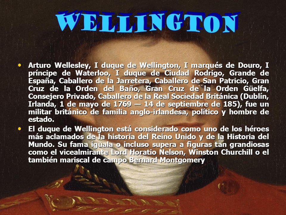 Arturo Wellesley, I duque de Wellington, I marqués de Douro, I príncipe de Waterloo, I duque de Ciudad Rodrigo, Grande de España, Caballero de la Jarr