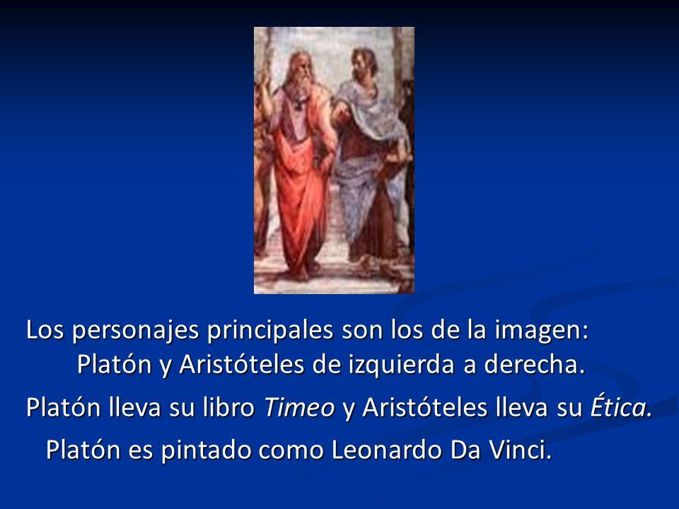 -LOS PERSONAJES Rafael B ramante Diógenes Platón Aristóteles Miguel Ángel Pitágoras Hipatia Apolo Atenea