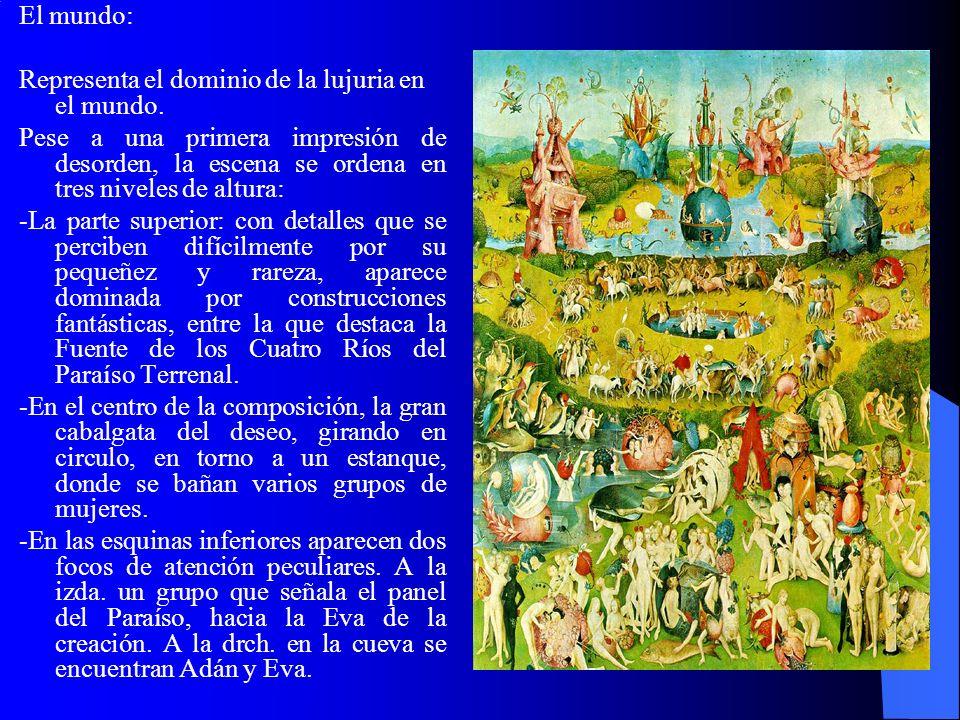 En el panel derecho, El Bosco representa el infierno, al que suele llamar el infierno musical por la importante presencia de instrumentos musicales, utilizados para torturar a los pecadores que dedican su tiempo a la música profana.