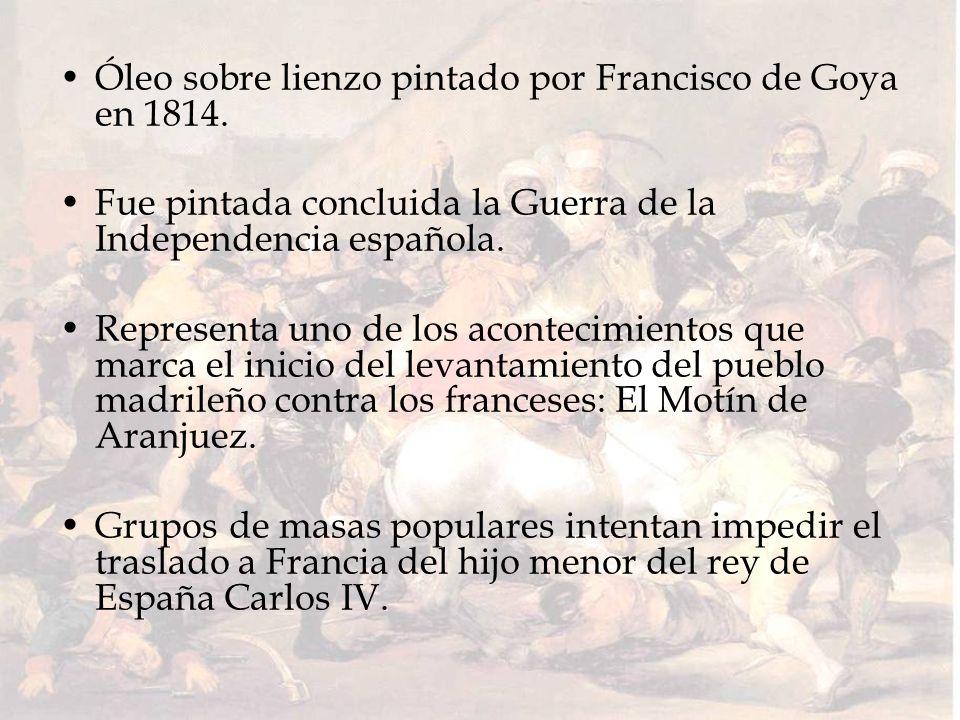 Óleo sobre lienzo pintado por Francisco de Goya en 1814. Fue pintada concluida la Guerra de la Independencia española. Representa uno de los acontecim