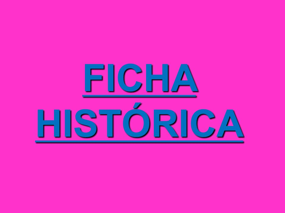 FICHA HISTÓRICA