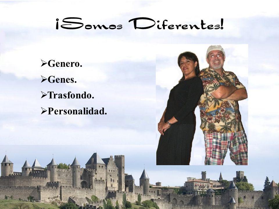 4 Genero. Genes. Trasfondo. Personalidad. ¡Somos Diferentes!