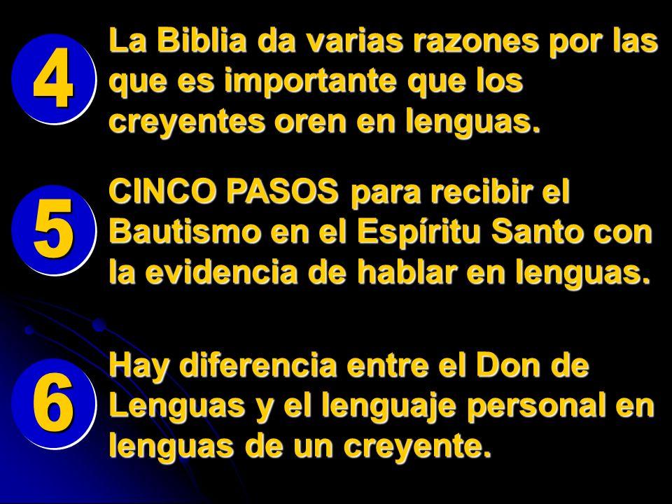Hay diferencia entre el Don de Lenguas y el lenguaje personal en lenguas de un creyente. CINCO PASOS para recibir el Bautismo en el Espíritu Santo con