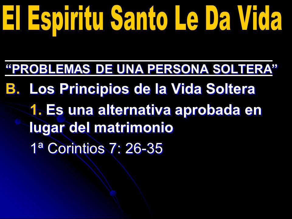 PROBLEMAS DE UNA PERSONA SOLTERA B.B.Los Principios de la Vida Soltera 2.