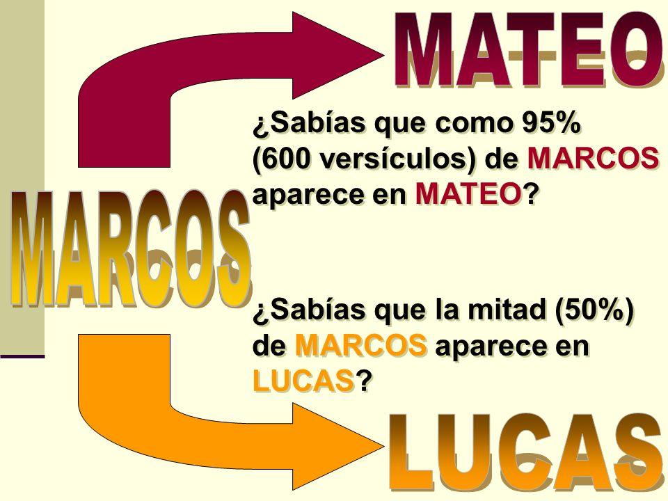 ¿Sabías que Los Evangelios según MATEO, MARCOS Y LUCAS se describen comoEvangelios Sinópticos.