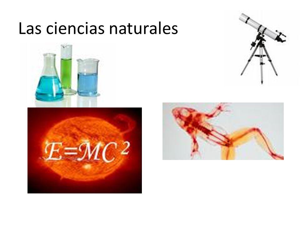 Las ciencias naturales