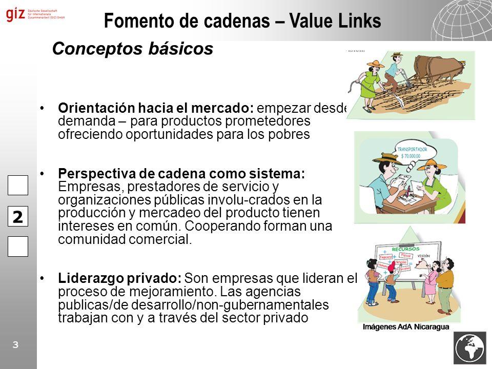 3 Orientación hacia el mercado: empezar desde la demanda – para productos prometedores ofreciendo oportunidades para los pobres Perspectiva de cadena