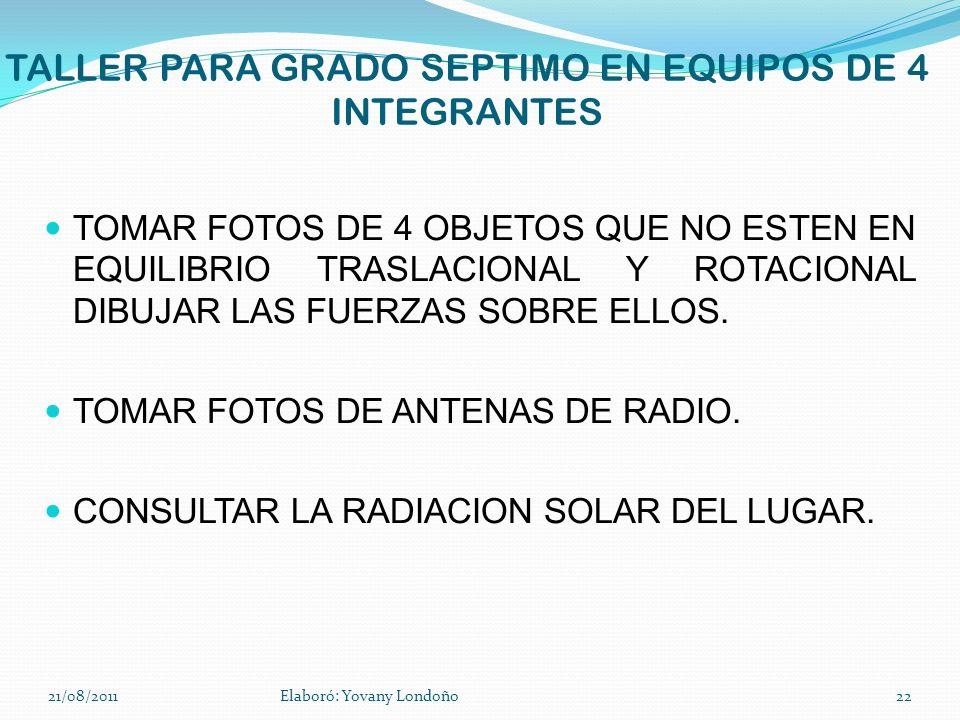 TALLER PARA GRADO SEPTIMO EN EQUIPOS DE 4 INTEGRANTES TOMAR FOTOS DE 4 OBJETOS QUE NO ESTEN EN EQUILIBRIO TRASLACIONAL Y ROTACIONAL DIBUJAR LAS FUERZA