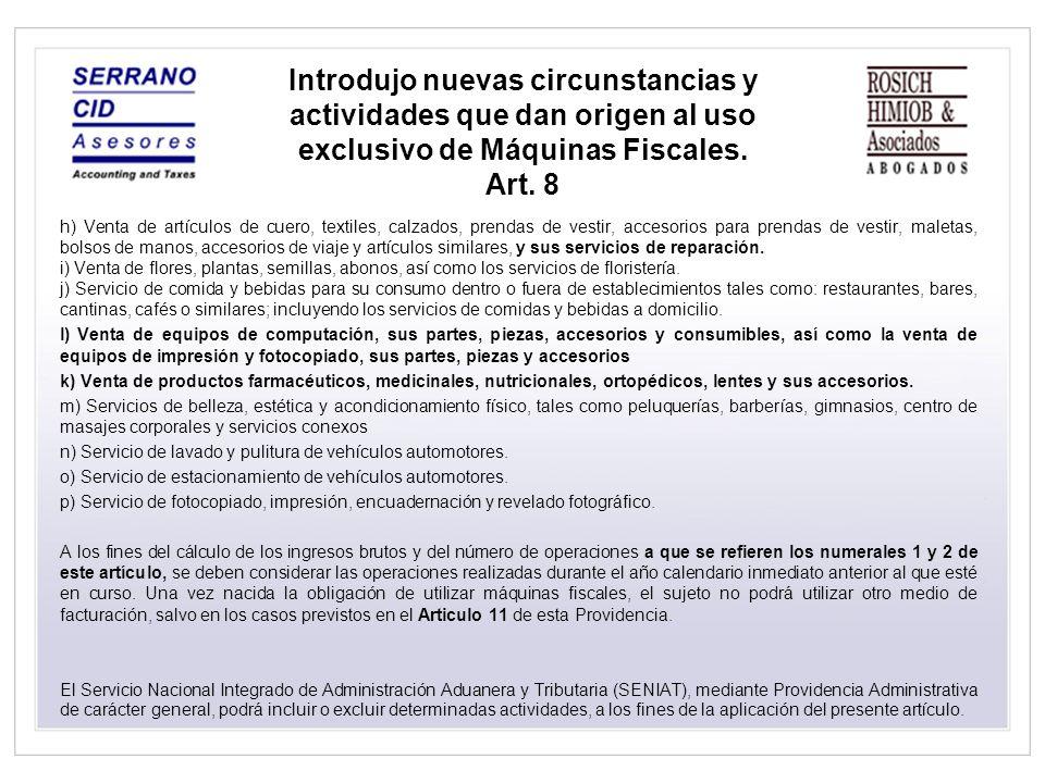 De las facturas Facturas emitidas en el exterior Elimino: La omisión de la cantidad en el caso de prestación de servicios.