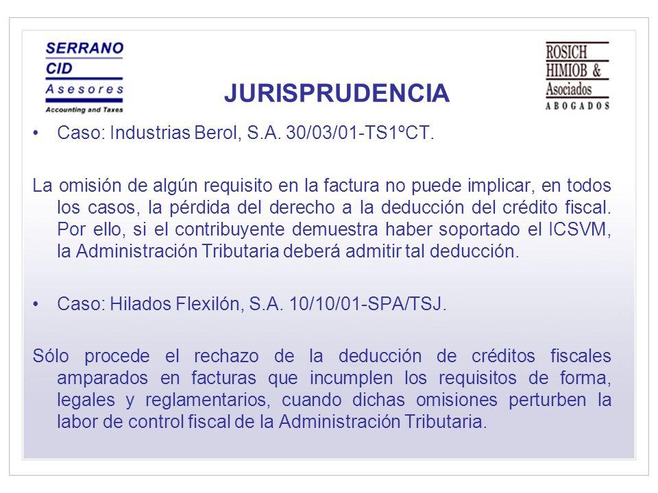 JURISPRUDENCIA Caso: Industrias Berol, S.A.30/03/01-TS1ºCT.