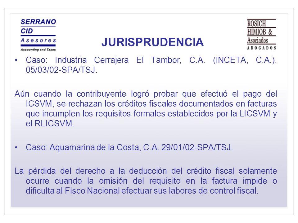 JURISPRUDENCIA Caso: Industria Cerrajera El Tambor, C.A.