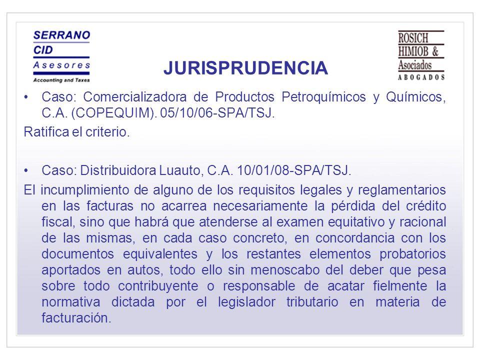 JURISPRUDENCIA Caso: Comercializadora de Productos Petroquímicos y Químicos, C.A.