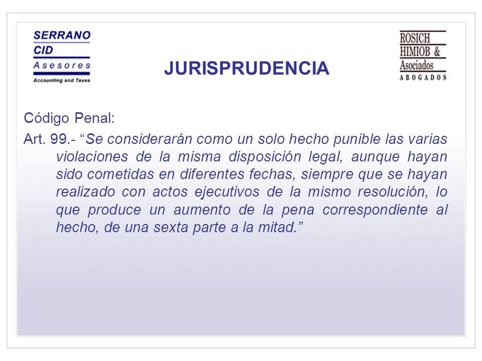 JURISPRUDENCIA Código Penal: Art.