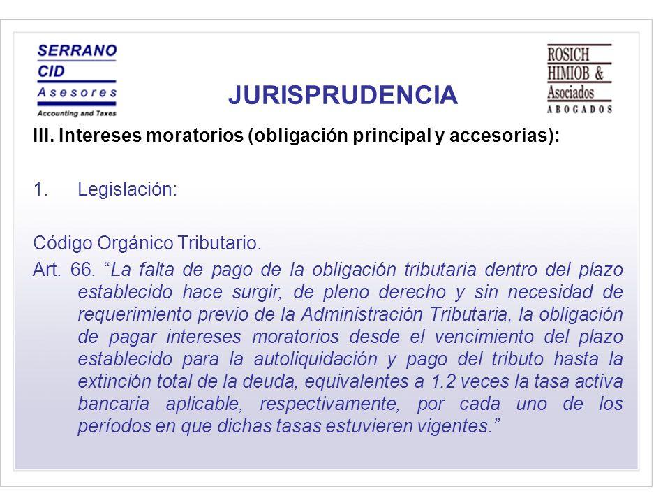 JURISPRUDENCIA III.