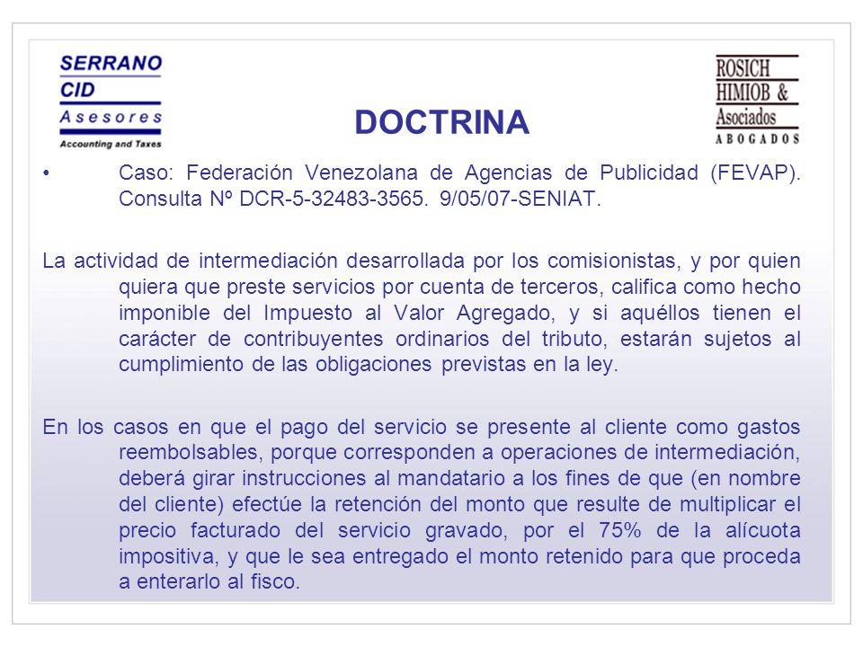 DOCTRINA Caso: Federación Venezolana de Agencias de Publicidad (FEVAP).