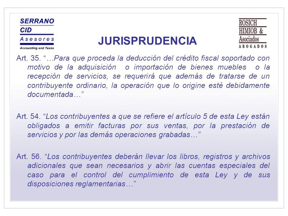 JURISPRUDENCIA Art.35.