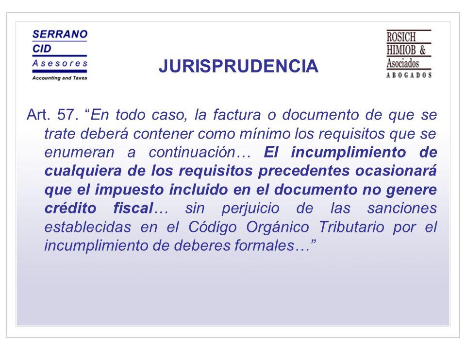 JURISPRUDENCIA Art.57.