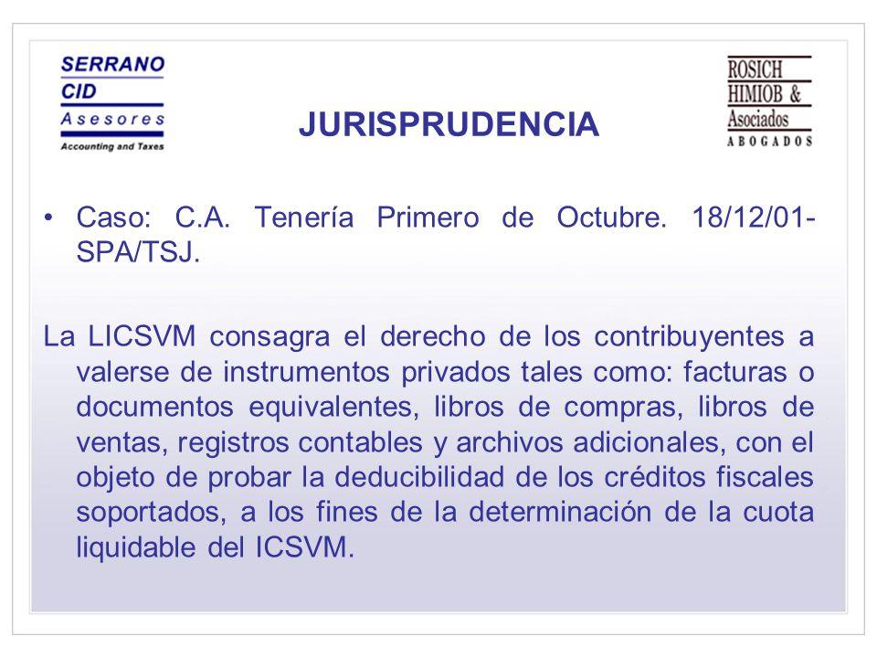 JURISPRUDENCIA Caso: C.A.Tenería Primero de Octubre.