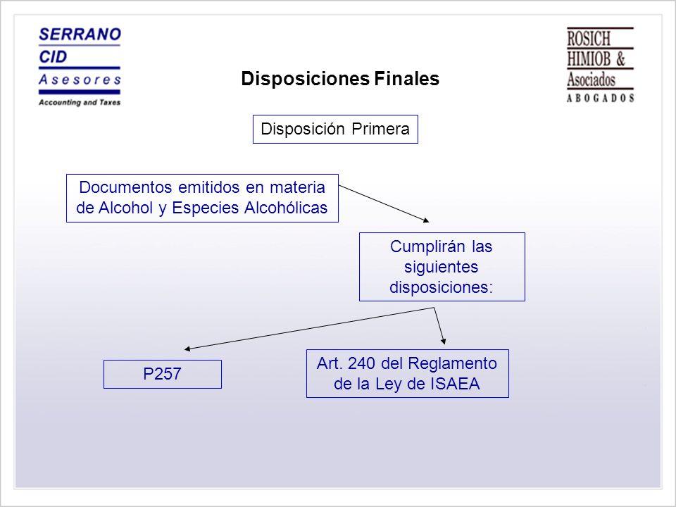 Normativa Vigente Disposición Sexta Disposiciones Finales
