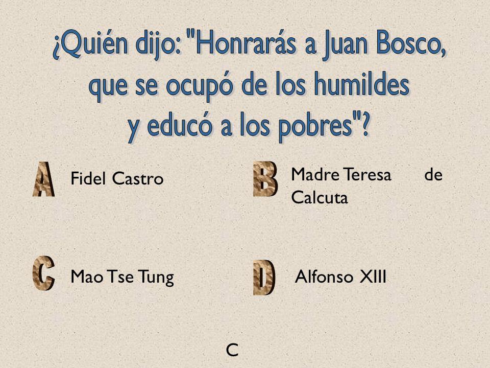 C Mao Tse Tung Madre Teresa de Calcuta Fidel Castro Alfonso XIII