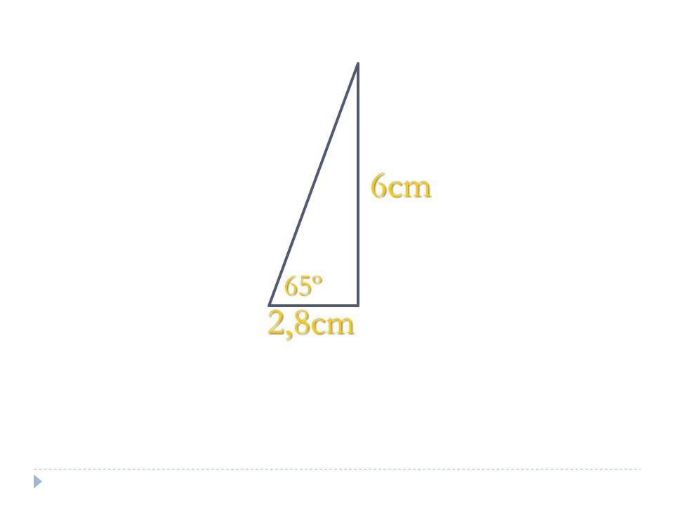 2,8cm 6cm 65º