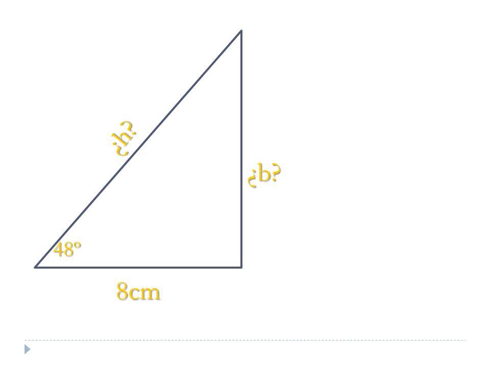 8cm ¿h? 48º ¿b?