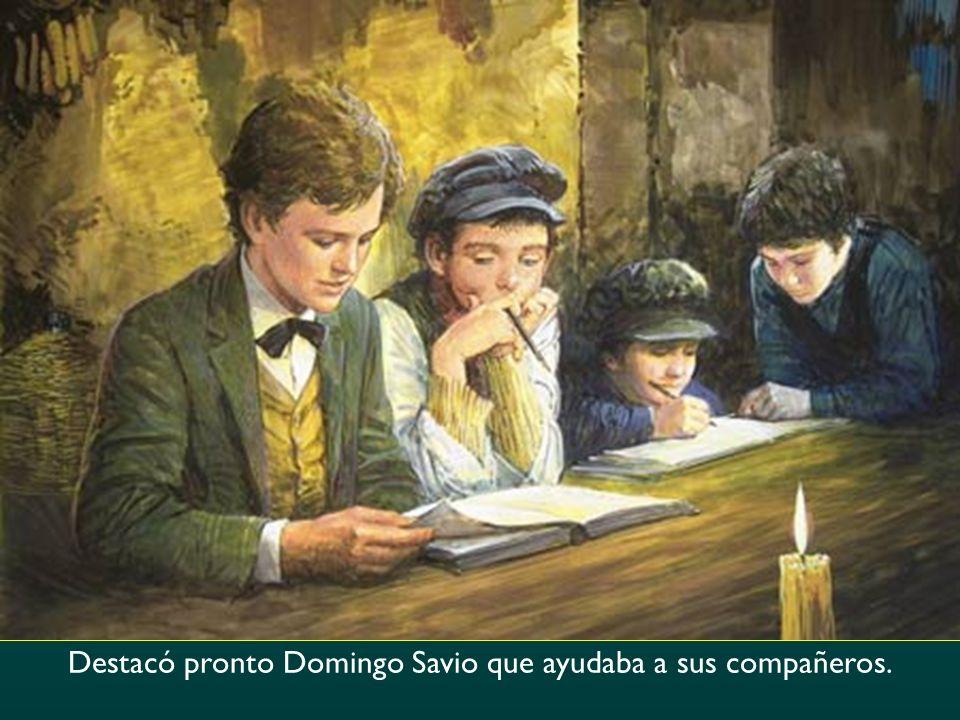 Destacó pronto Domingo Savio que ayudaba a sus compañeros.