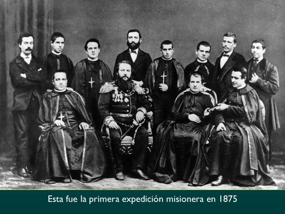 Esta fue la primera expedición misionera en 1875
