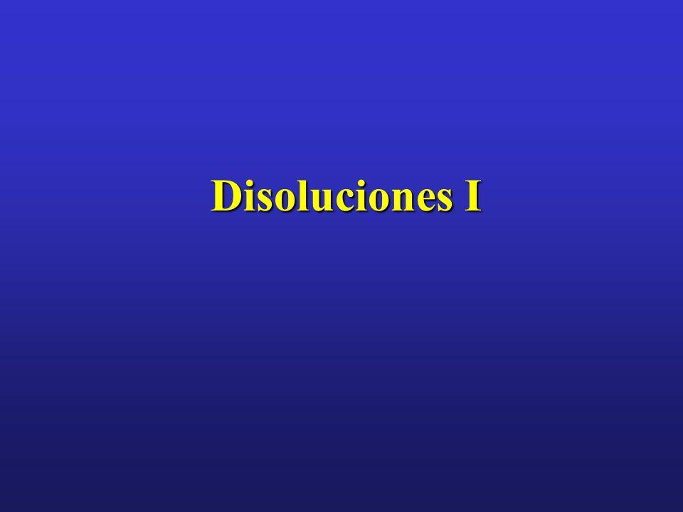 Disoluciones I
