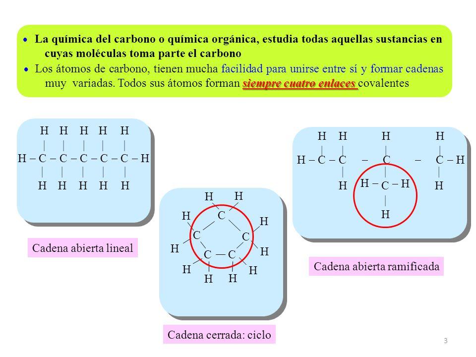 4 H C C C C C H H H  H H  H H  H H  H H   H H  H H  H H Las fórmulas desarrolladas solo muestran como están unidos los átomos entre sí, pero sin reflejar la geometría real de las moléculas Las fórmulas semidesarrolladas solo especifican los enlaces entre átomos de carbono H C C C C C H H H  H H  H H   H H  H H  H H CH 3 CH CH CH 2 CH 3 CH 3 CH 2 CH 2 C CH