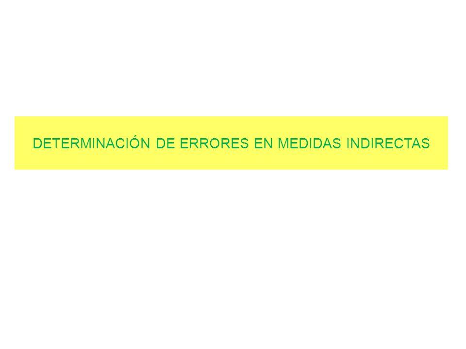 DETERMINACIÓN DE ERRORES EN MEDIDAS INDIRECTAS