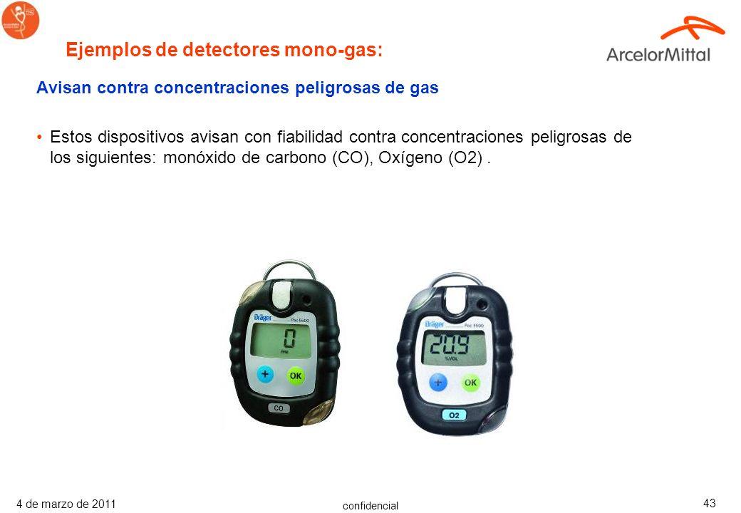 confidencial 4 de marzo de 2011 42 Avisan contra concentraciones peligrosas de gas Estos dispositivos avisan con fiabilidad contra concentraciones pel