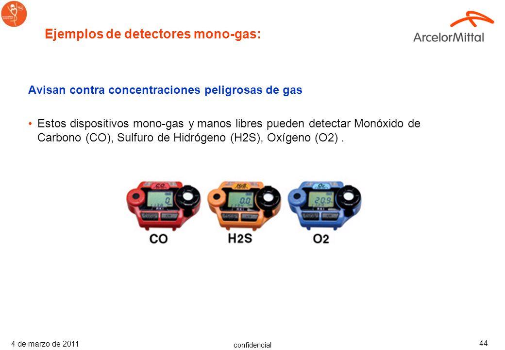 confidencial 4 de marzo de 2011 43 Avisan contra concentraciones peligrosas de gas Estos dispositivos avisan con fiabilidad contra concentraciones pel