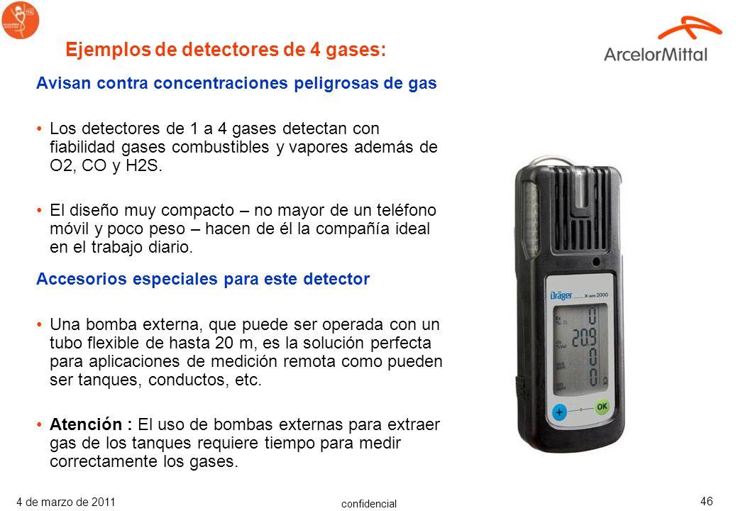 confidencial 4 de marzo de 2011 45 Avisan contra concentraciones peligrosas de gas Este dispositivo avisa con fiabilidad contra concentraciones peligr