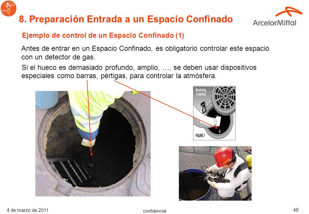 confidencial 4 de marzo de 2011 47 Monitor de Cuatro gases para Espacios Confinados Los detectores de 1 a 4 gases detectan simultáneamente con fiabili