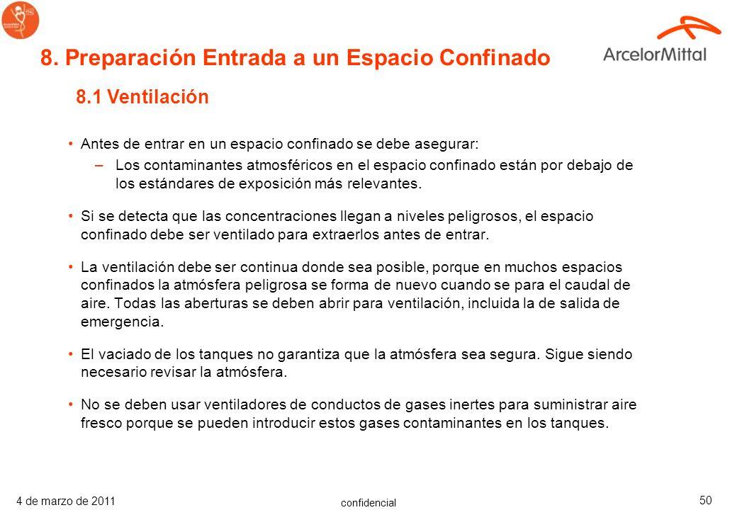 confidencial 4 de marzo de 2011 49 Cómo usar una pértiga adaptada: Para usar la pértiga adaptada, fijar el detector de 4 gases en un extremo, mantener