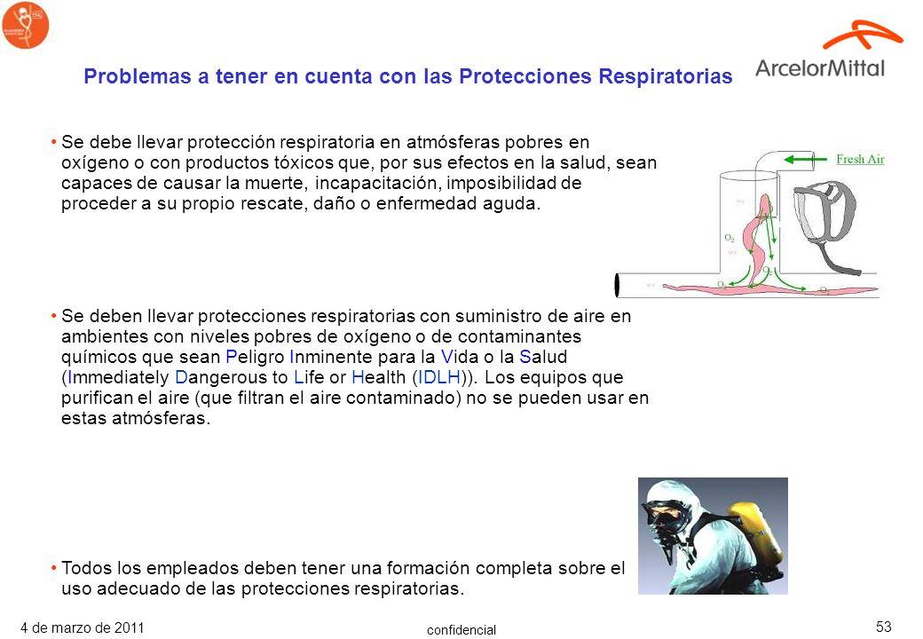 confidencial 4 de marzo de 2011 52 Soplantes y ventiladores proporcionan ventilación por dilución. Hay que asegurarse que son del tamaño adecuado, a p