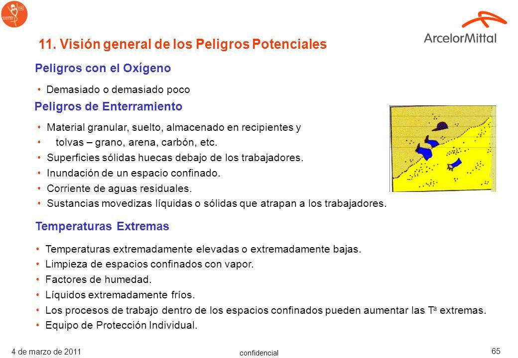 confidencial 4 de marzo de 2011 64 Los trabajadores que tienen responsabilidades en rescates de emergencia necesitarán formación adicional especializa