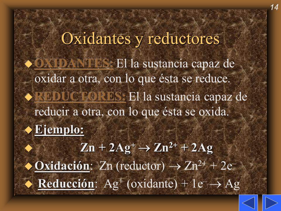 14 Oxidantes y reductores