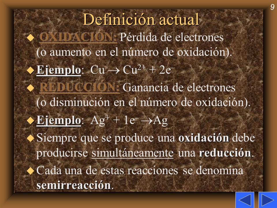 9 Definición actual