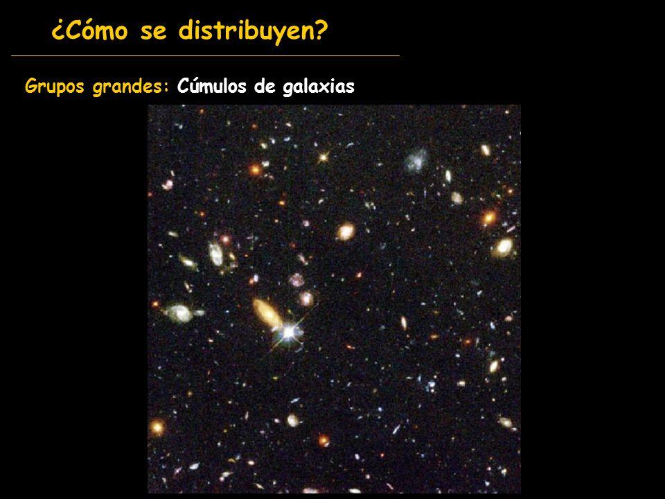 Grupos grandes: Cúmulos de galaxias ¿Cómo se distribuyen?