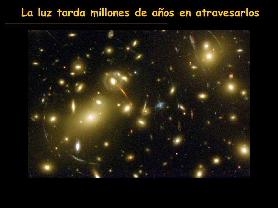 La luz tarda millones de años en atravesarlos